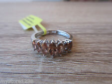 Jenipapo Andalusite Ring Platinum Overlay Sterling Silver Sz 5,6,7 Option