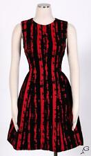 Calvin Klein Red/Black Sz 10 Women's Cocktail Velvet Tea Dress $169 New