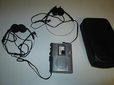 Working SONY TCM-200DV VOR Clear Voice Handheld Cassette Tape Recorder