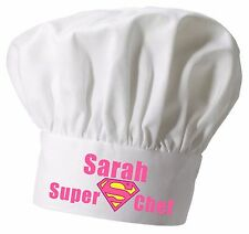 Personalised Ladies Super Chef Hat  Great Christmas gift Full colour printing