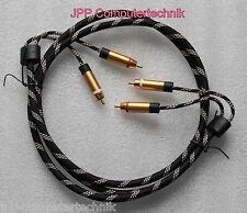 1,5m Audio Stereo Chinch Kabel 4 Cinch Stecker Premium Metall vergoldet 24k GOLD