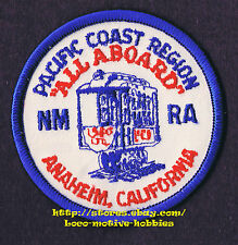 Patch PCR NMRA Pacific Coast Rgn  ALL ABOARD Convention  NATIONAL MODEL RAILROAD