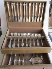Vintage Oneida Community SPANISH CROWN 1970 Silverplate SERVICE for 12