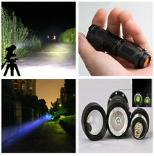 Strong Light 3W 180lm CREE Q5 LED Zoomable Mini Flashlight Torch Lamp AA/14500 P