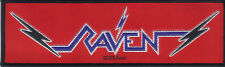 RAVEN-WIPED OUT-STRIPE WOVEN PATCH-OFFICIAL-NWOBHM