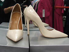 Cecille BNIB UK 5 Exquisite Stiletto Heels Patent Cream Leather Eve Shoes EU 38