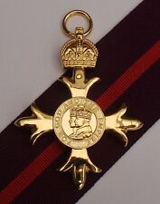 Full Size OBE Military Medal With 1st Type Military Ribbon - Superb Quality