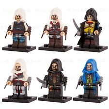 6pcs POGO Assassin's Creed Game Renaissance Kenway Firenze Minifigures Kids Toys