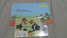 """Starbucks Gift Card Taiwan On-The-Go Card """"A-NAI 2016 """" with matching sleeve"""
