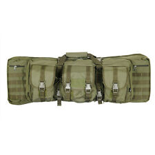 "36"" Dual Rifle Bag MOLLE Double AR15 M4 Carbine Gun Storage Tactical Case Green"