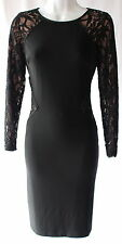 Ralph Lauren lace black elegant evening occasion dress knee lenght sz 6P new