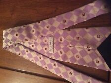 Paul Smith Accessories Stylish Lilac Silk tie Harlequin Squares and Dots