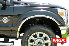 FTFD203 - 11-16 Ford F-250 350 Super Duty POLISHED Stainless Steel Fender Trim
