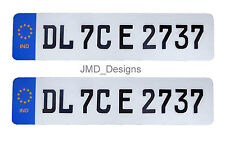 Car Embossed Number Plate 'German Style' (Front & Back)