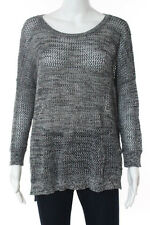 Cotton By Autumn Cashmere MultiColor Cotton Skull Back Detail Sweater Size Small