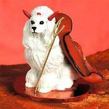 POODLE White Show Devil Dog Tiny One Figurine Statue