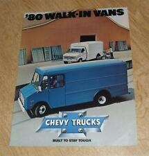 USA-CHEVY Camion camminare in VANS BROCHURE 1980