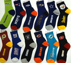 NFL Licensed Quarter Crew Length Socks Team Logo/Colors Pick Your Team & Size!