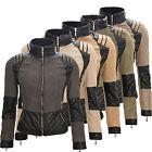 Damen Übergangs Jacke Bikerjacke Stehkragen Damenjacke mit Kunstleder D-67 NEU