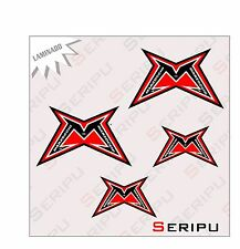 X4 KIT MARZOCCHI  LAMINADO  STICKERS MOTO VINILO  TUNING ADESIVO DECAL MOTO GP