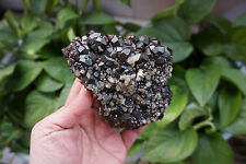 850g Natural deep red garnet crystal with Quartz crystal mineral specimens china