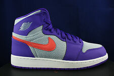 NIKE AIR JORDAN 1 RETRO HIGH GS GG FIERCE PURPLE EMBER GLOW 332148 405 SZ 9 Y