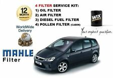 FOR FORD FOCUS C MAX 2003-2008 2.0TDCi SERVICE KIT OIL AIR FUEL POLLEN 4 FILTER