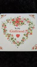 To My Girlfriend Lots Of Love On Your Birthday Card Glitter Hearts Flowers