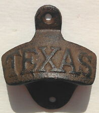 Texas Bottle Opener Rustic Cast Iron Wall Mount Lone Star State Man Cave Beer