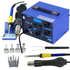 2 in 1 Soldering Iron Rework Stations SMD Hot Air Gun Desoldering Welder 862D BH