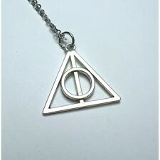 Collana Doni Morte Necklace col Argento Movie Harry Potter Saga Deathly Hallows