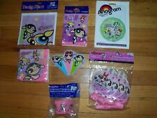 7pc Lot of Designware Power Puff Girls Birthday Party Goods Multi-color 1999 NOS