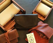 Legendary Saxon Black Leather Pocket Rolling Tobacco Pouch - US Made By Seller