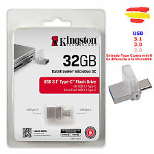 PENDRIVE KINGSTON 32GB MEMORIA OTG USB 3.1 3.0 Y 2.0 32 GB PEN DRIVE MOVIL TypeC