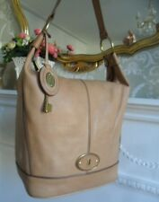 Fossil Vintage Reissue Camel Tan Leather Bucket Shoulder Hobo Bag Key Fob RP£188