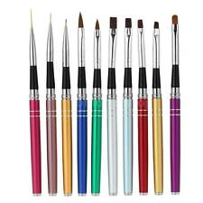 10pcs Acrylic UV Gel Nail Art Design Liner Painting Dotting Tools Brush Pen