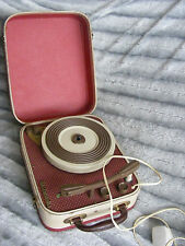 VINTAGE 50's 60's RETRO DESIGN CASED WESTMINSTER PORTABLE RECORD PLAYER IN CASE