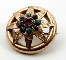 Antique Victorian Rolled Gold Star Brooch