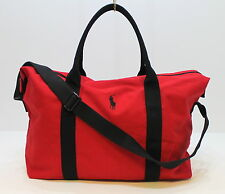 Ralph Lauren Big Pony Red Duffle / Weekend / Travel / Overnight / Holdall Bag