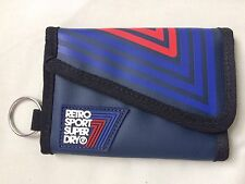 SUPERDRY - Retro Sport Bi Fold - Bifold  Wallet - Blue - NEW