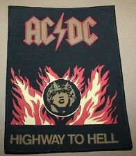 AC/DC, Highway to..., small printed Backpatch, Vintage 70's / 80's, rar, rare