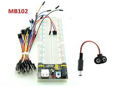 Basic Electronics Kit Power module + Breadboard + 65 jumper wires kit + DC Jack