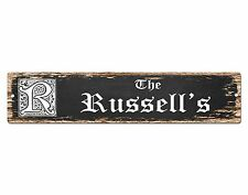 SP0699 The RUSSELL'S Family name Sign Bar Store Shop Cafe Home Chic Decor Gift