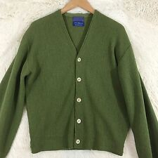 PENDLETON SWEATER CARDIGAN GREEN 100% ALPACA SIZE MEDIUM