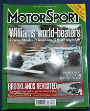 Motor Sport March 2001 Williams F1 cars, Brooklands, Mauri Rose