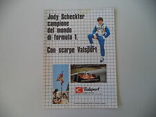 advertising Pubblicità 1979 VALSPORT e JODY SCHECKTER