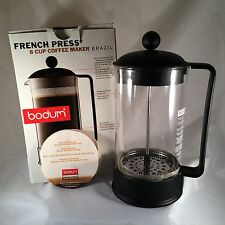Bodum French Press BRAZIL 1548 8 Cups Coffee Maker - Black