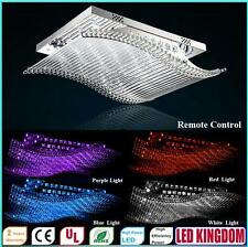 LED Smooth Sailing Crystal Ceiling Chandeliers Lamps Pendant Ceiling Living Room