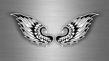 Sticker car motorcycle helmet decal vinyl chopper biker skull wings r2