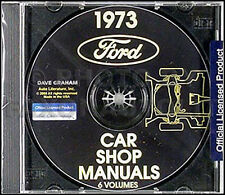 1973 Lincoln Shop Manual CD Town Car Continental and Mark IV 4 Repair Service